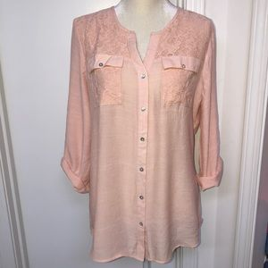 Women's ny collection blush top size L
